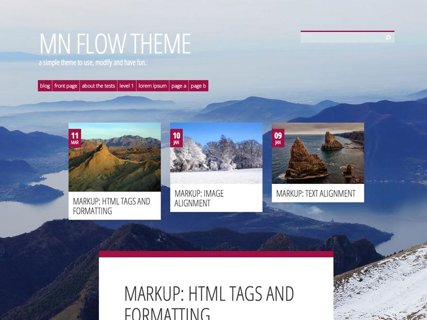WordPress theme MN Flow