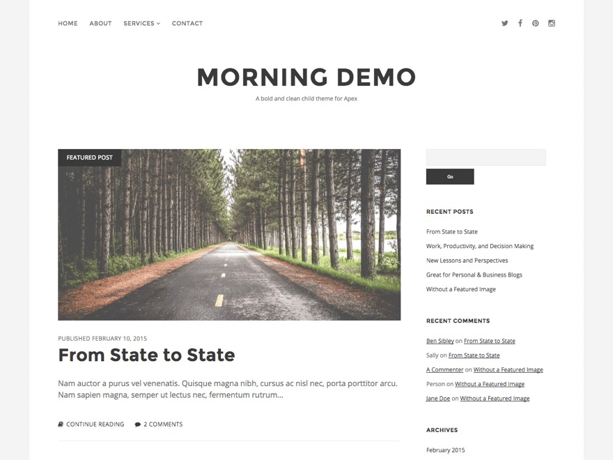 WordPress theme Morning