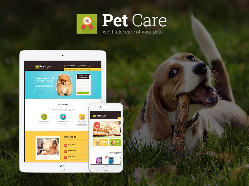 WordPress theme Pets