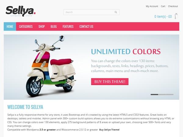 WordPress theme Sellya