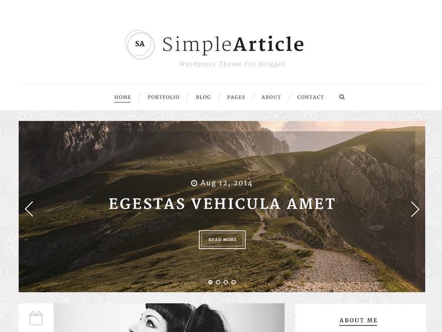 WordPress theme Simple Article