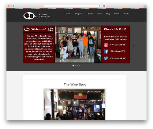 WordPress theme Swatch - wisdomftf.com
