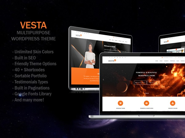 WordPress theme Vesta