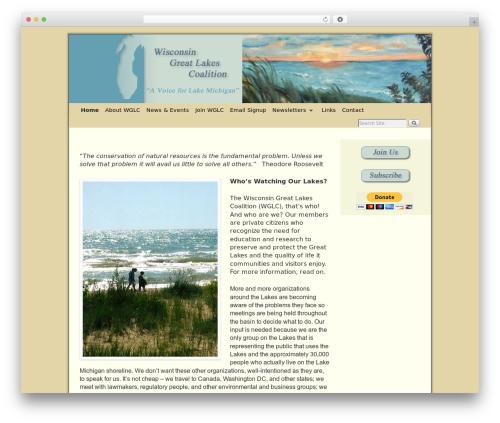 WordPress theme Weaver II Pro - wisconsingreatlakescoalition.org