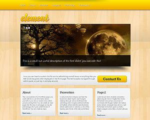 WordPress website template Element