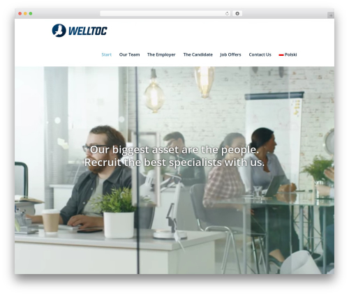 WordPress website template Investment - welltoc.com