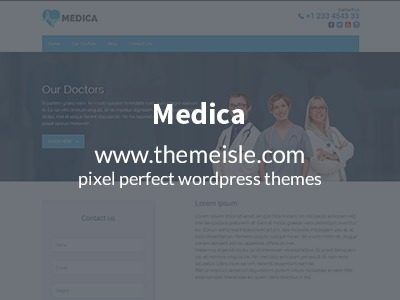 WordPress website template Medica Pro