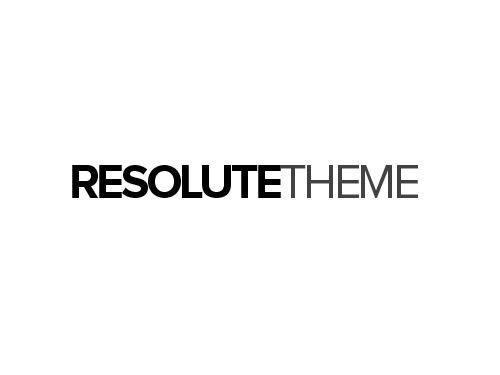 WordPress website template Resolute Theme