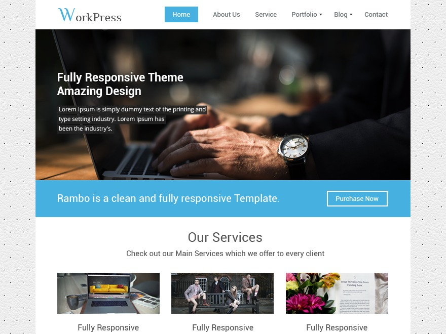 WorkPress free WP theme