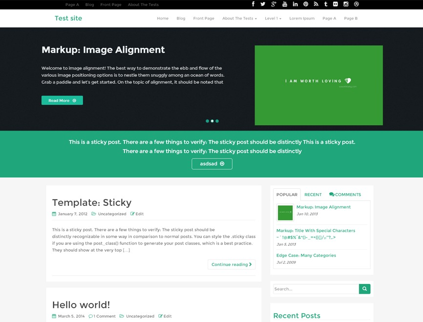 WP RootStrap WordPress news template