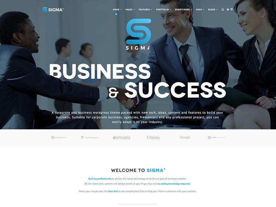 WP Sigma best WordPress template