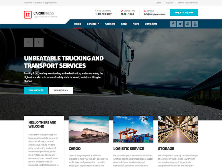 WP template CargoPress by ProteusThemes