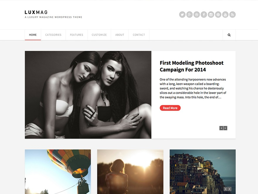 WP template Luxmag