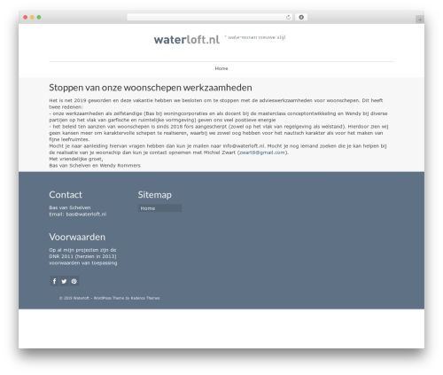 WP template Virtue - waterloft.nl