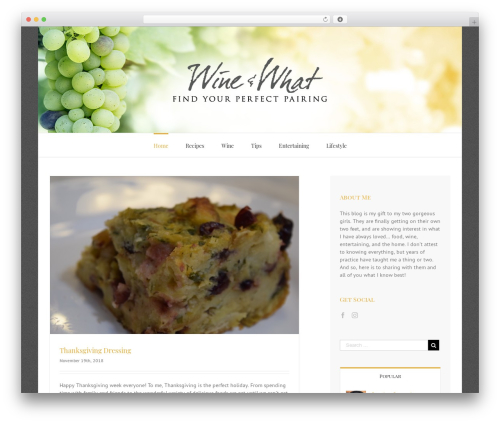 WP theme Avada - wineandwhat.com