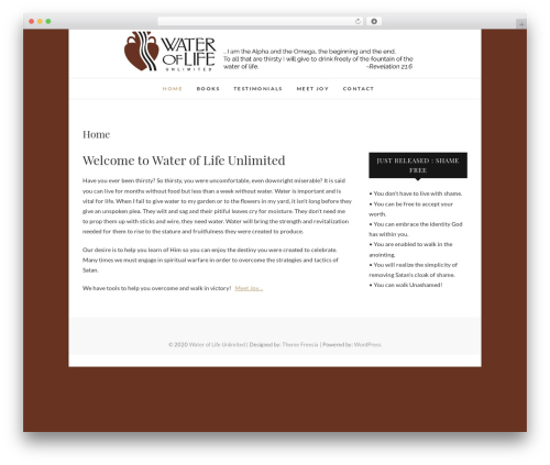 WP theme Edge - wateroflifeunlimited.com