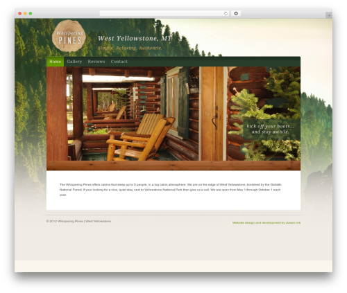 WP theme Organic Natural Theme - whispering-pines-motel.com