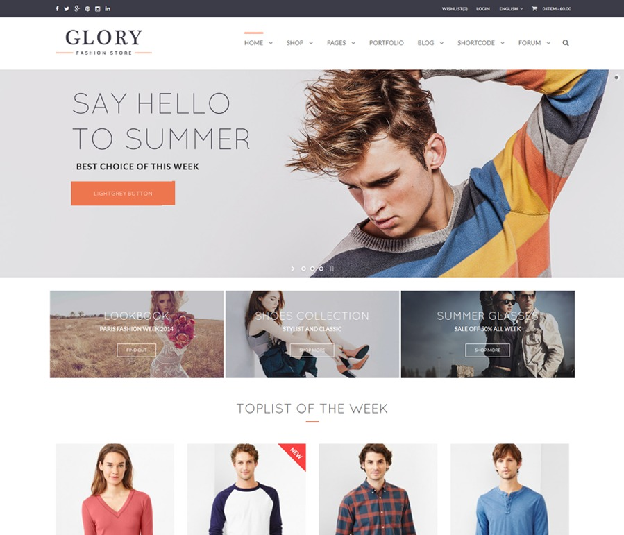 WP Woo Glory WordPress theme