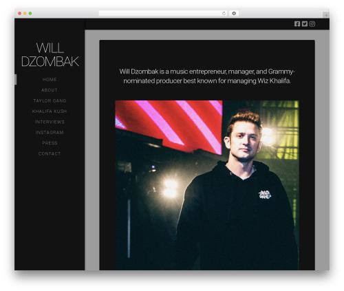 X top WordPress theme - willdzombak.com