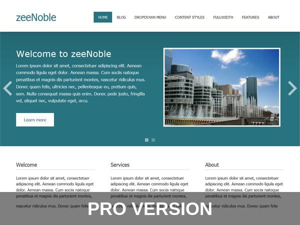zeeNoblePro WordPress theme