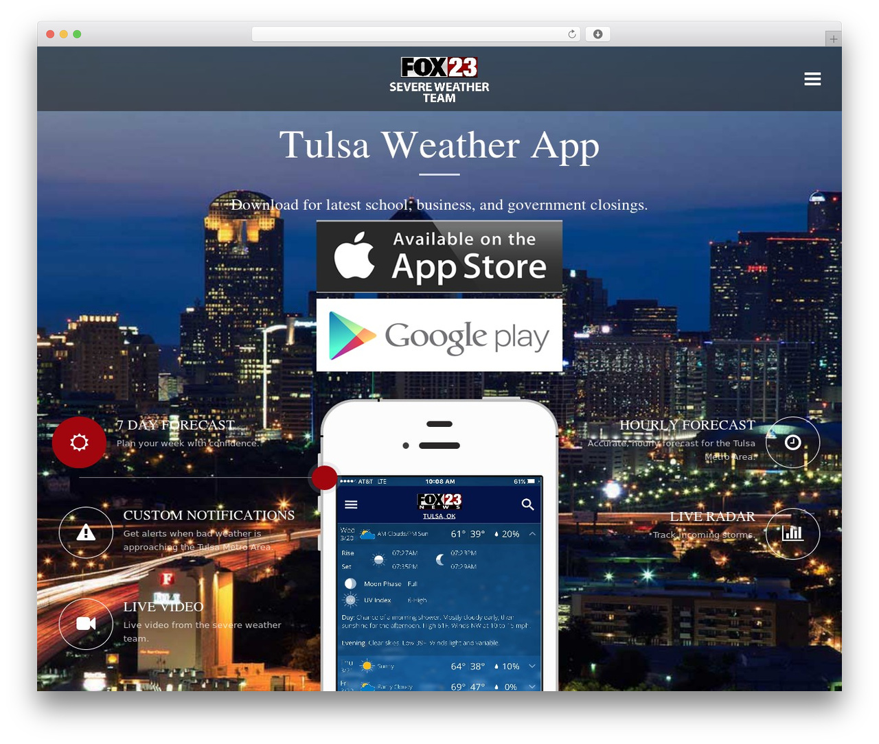 Applay theme WordPress - fox23weatherapp.com