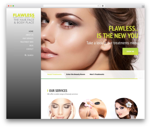 BeautySpot best WordPress theme - flawlessskinclinic.co.uk