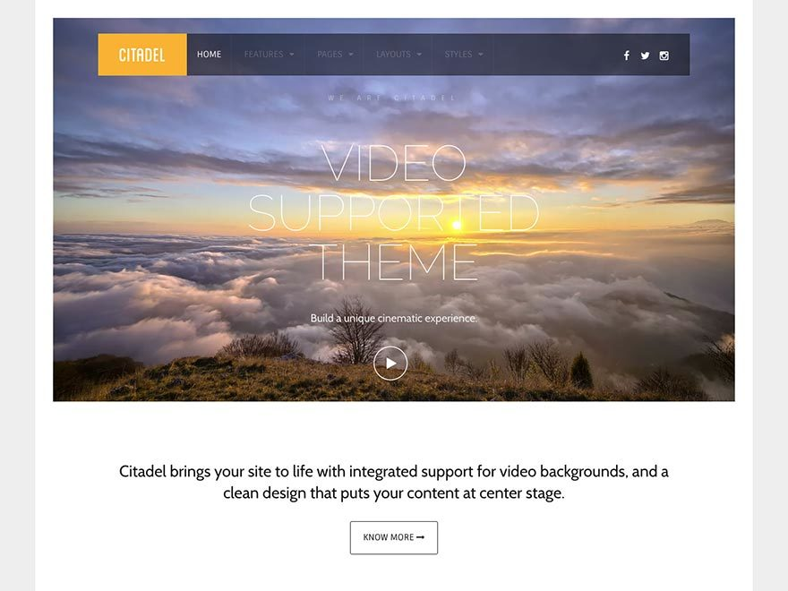 Best WordPress theme Citadel