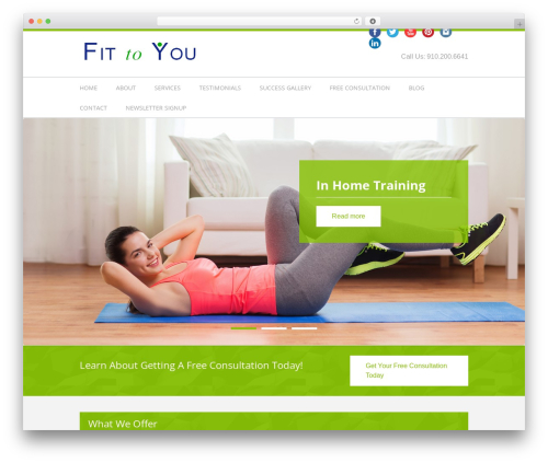 Best WordPress theme Fitness Life Child Theme - fittoyounc.com