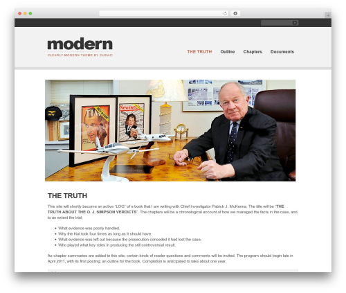 Clearly Modern WordPress theme - fleebailey.org