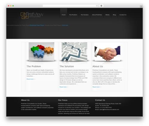 DynamiX WordPress website template - firstviewdesigns.com