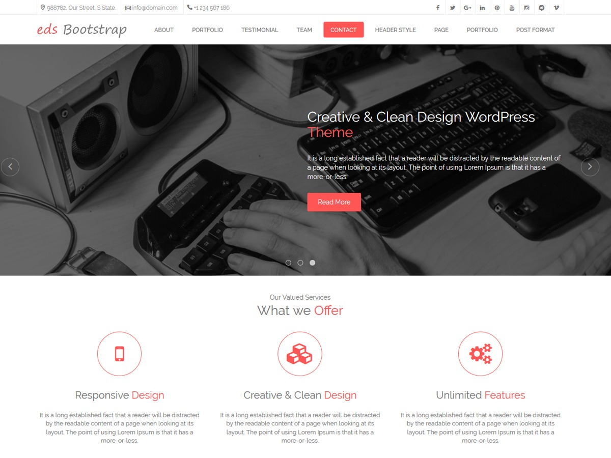 edsbootstrap theme free download by proscriptsell