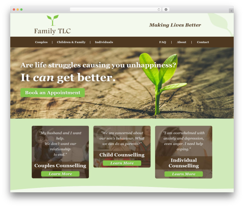 Family TLC top WordPress theme - familytlc.ca