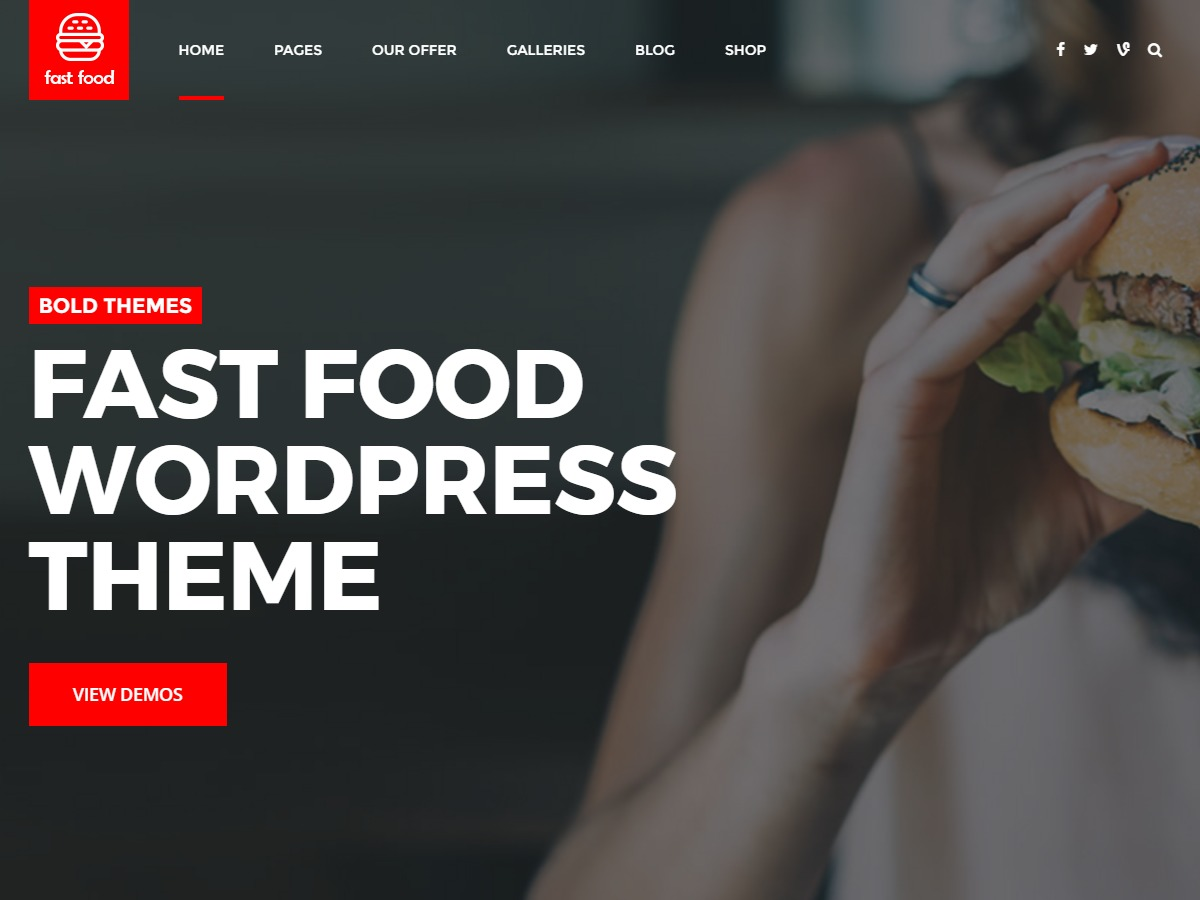Fast Food food WordPress theme