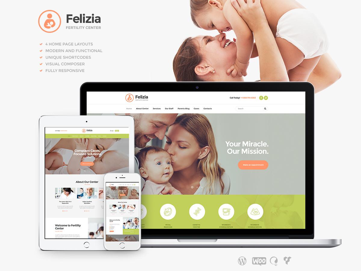 Felizia WordPress blog template