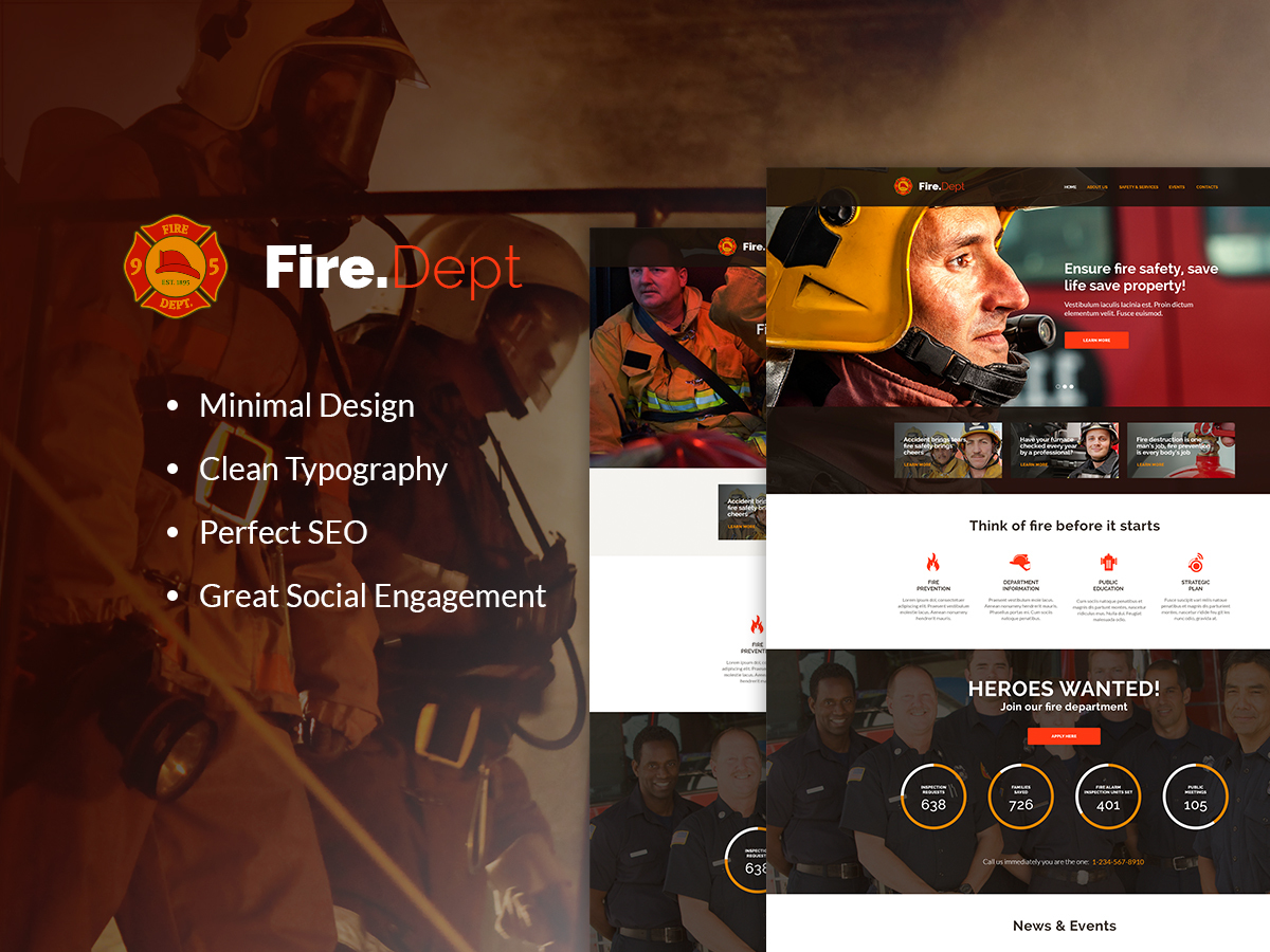 Fire Department Child best WordPress theme