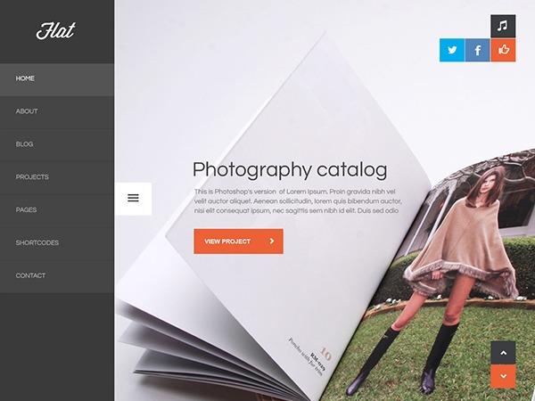 Flat WordPress portfolio theme
