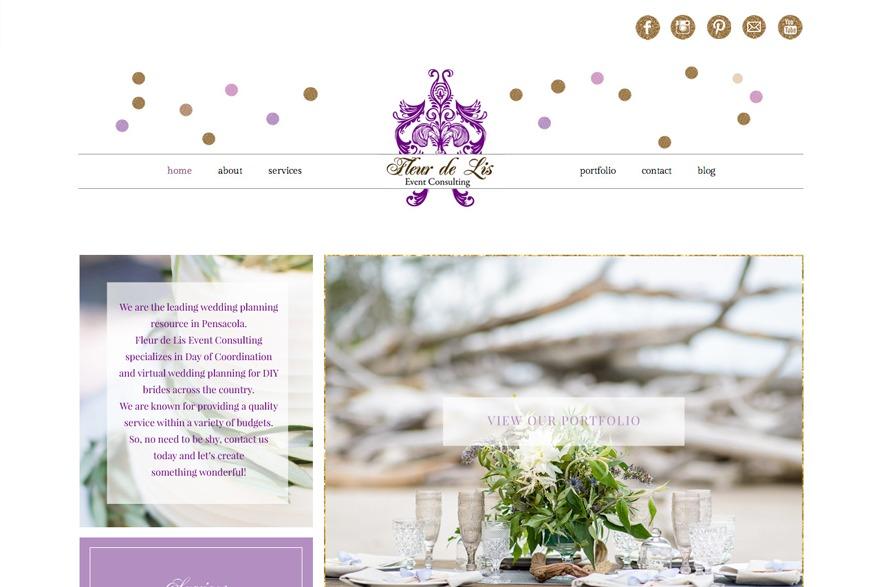 Fleur de Lis Theme WP template by Fancy Girl Design Studio
