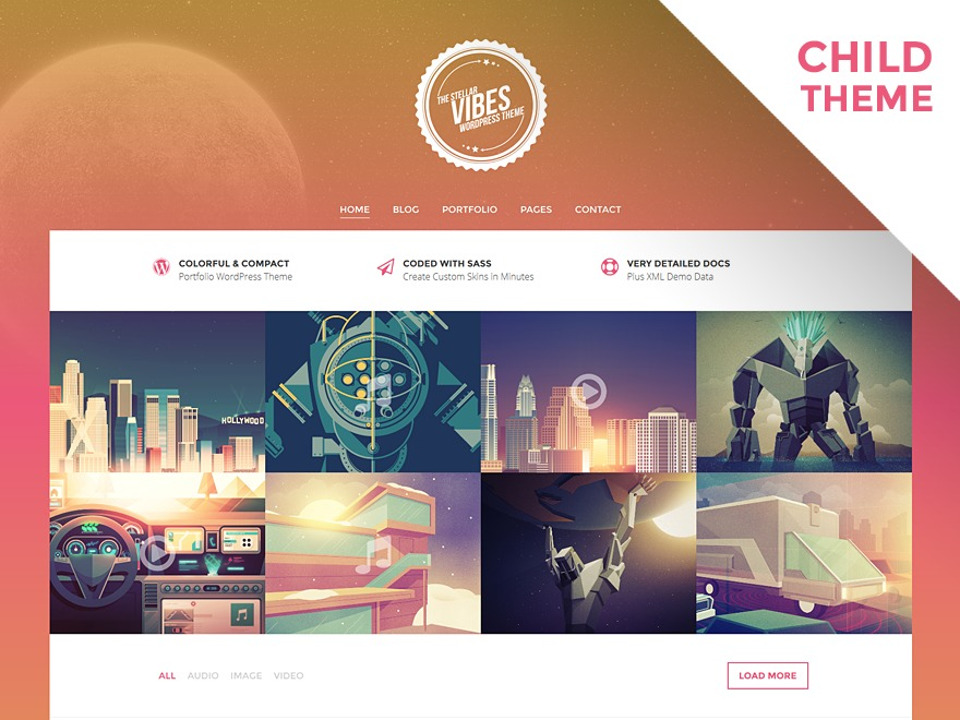 Florellino Child WordPress page template