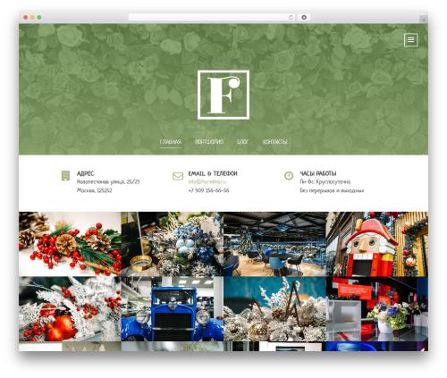 Florellino WordPress template - florellino.ru