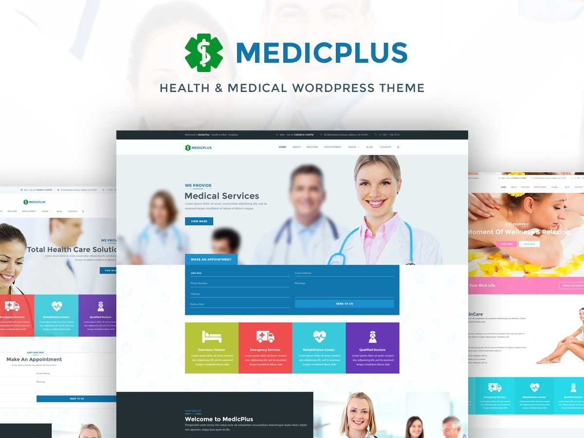 MedicPlus premium WordPress theme