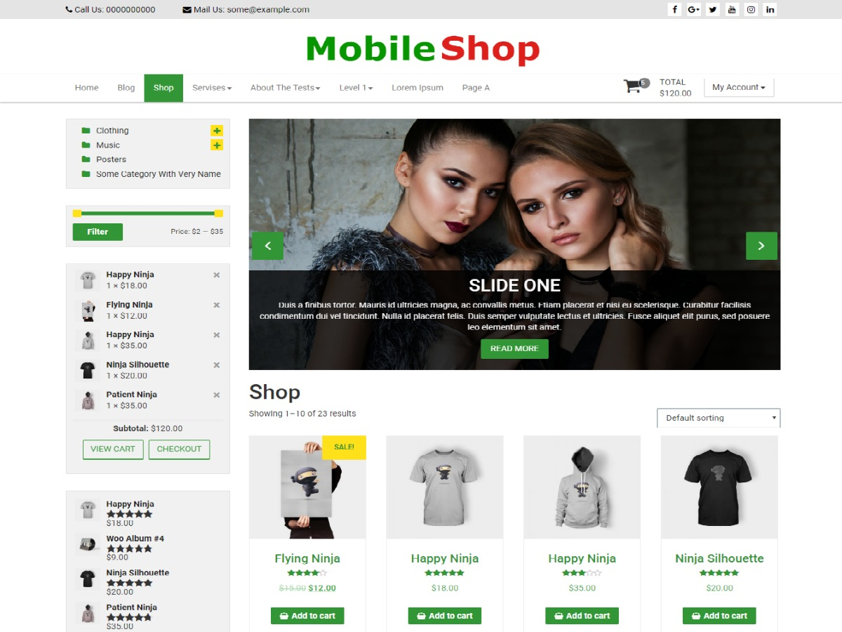 Mobile Shop WordPress shop theme