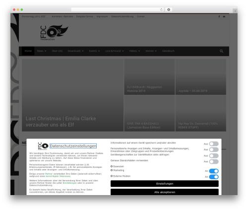 Newspaper newspaper WordPress theme - firedancecrew.de