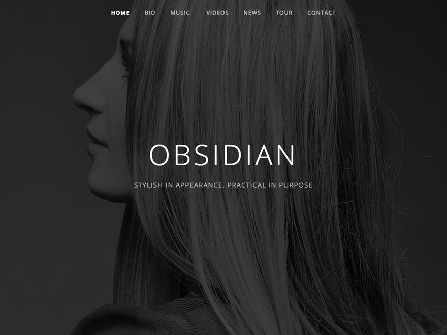 Obsidian Child WordPress theme