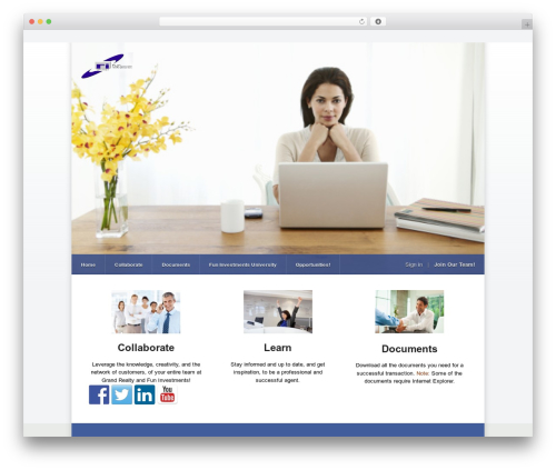 Razor WordPress template - funinvestmentsagents.com