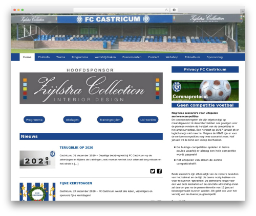 Redesign Sportlinkclubsites theme WordPress - fccastricum.nl