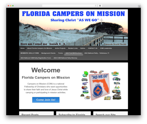 Responsive template WordPress free - flcampersonmission.com