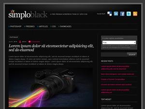 SimploBlack WP theme