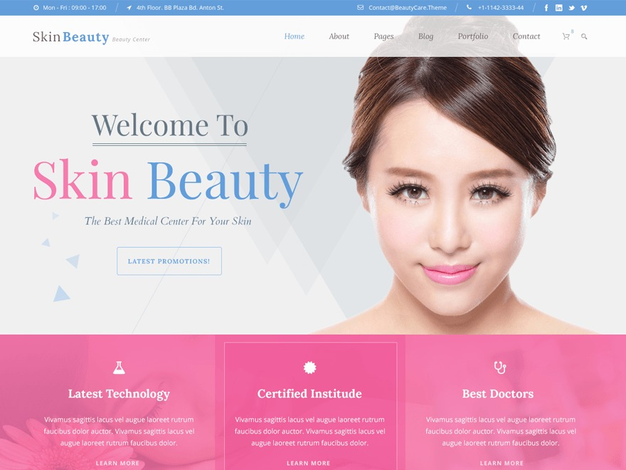 Skin Beauty WP theme