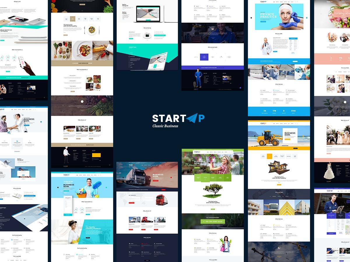 StartUp Theme WordPress portfolio theme