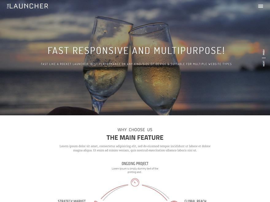 The Launcher template WordPress free